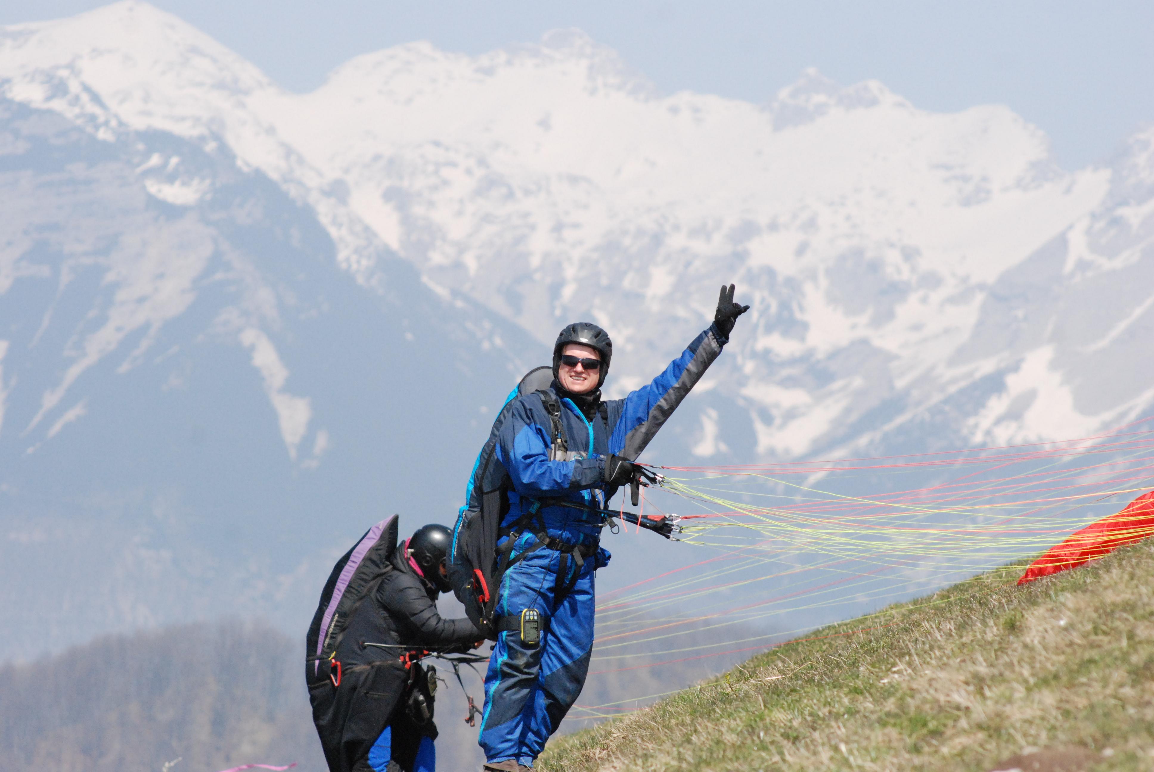 paragliding výuka pokročilí